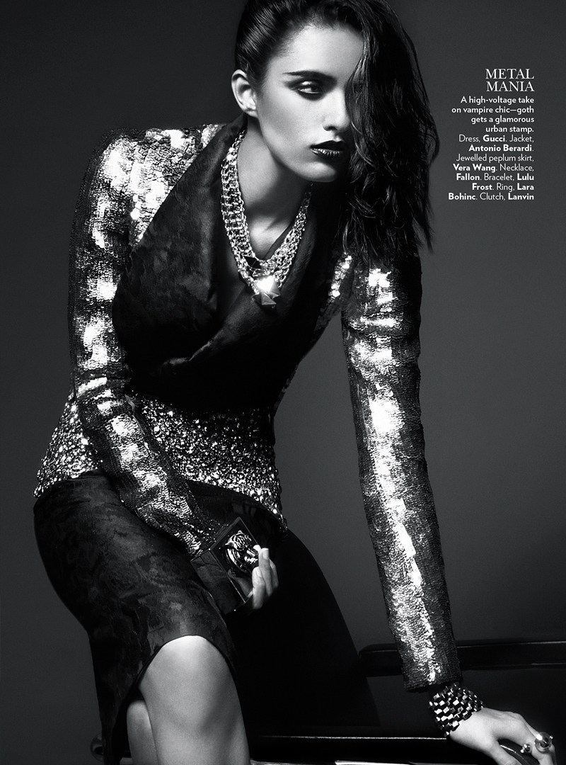 VogueIndia3 Lakshmi Menon Dons Statement Pieces for Vogue Indias February 2013 Issue by Kevin Sinclair