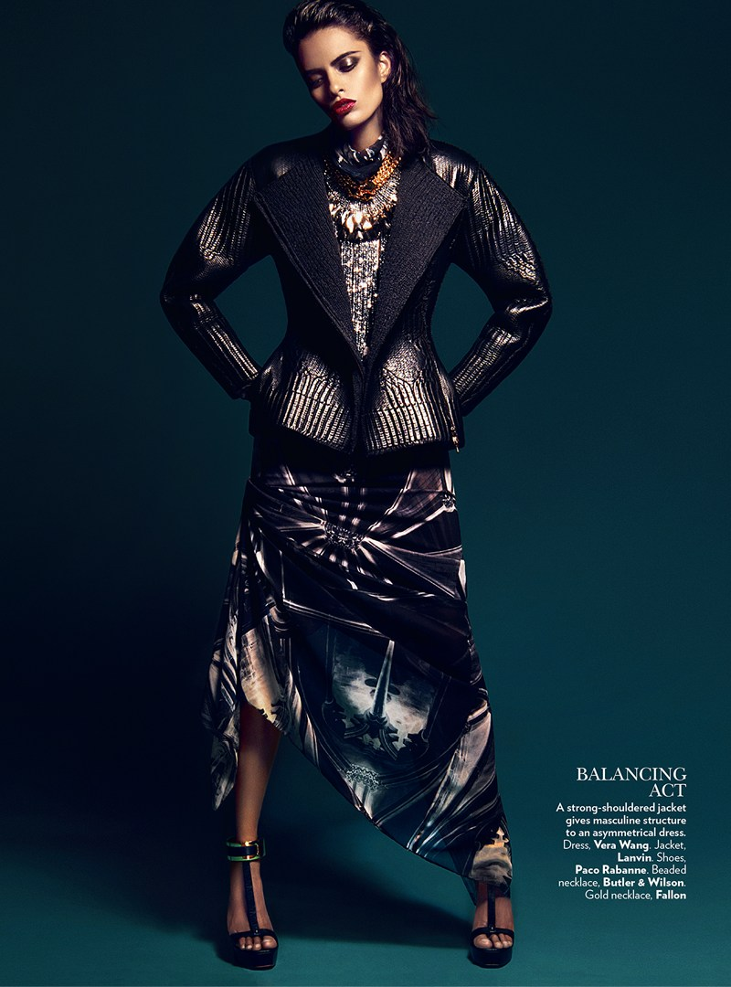 VogueIndia5 Lakshmi Menon Dons Statement Pieces for Vogue Indias February 2013 Issue by Kevin Sinclair