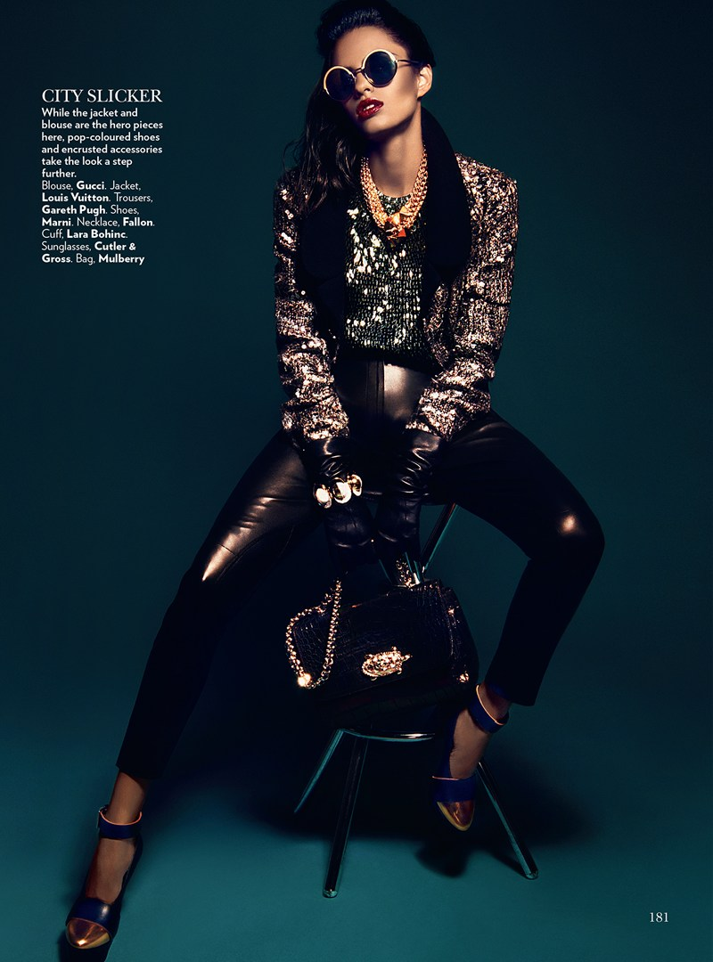 VogueIndia6 Lakshmi Menon Dons Statement Pieces for Vogue Indias February 2013 Issue by Kevin Sinclair
