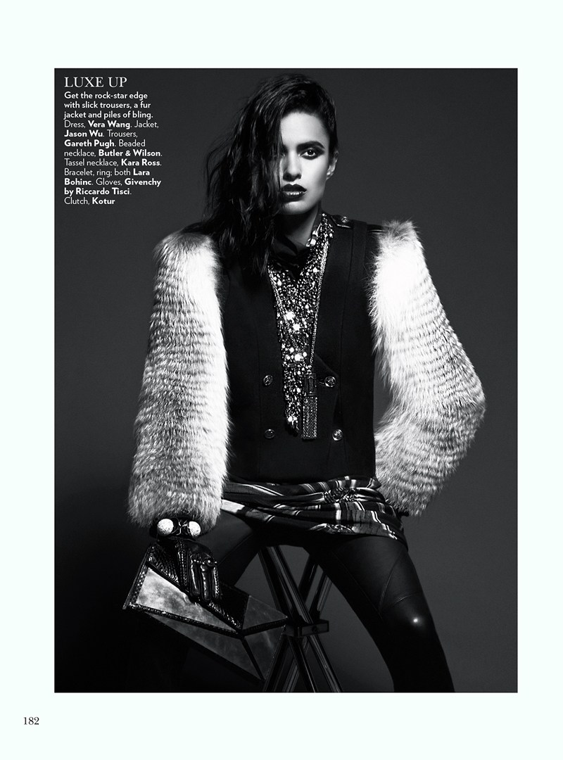 VogueIndia7 Lakshmi Menon Dons Statement Pieces for Vogue Indias February 2013 Issue by Kevin Sinclair