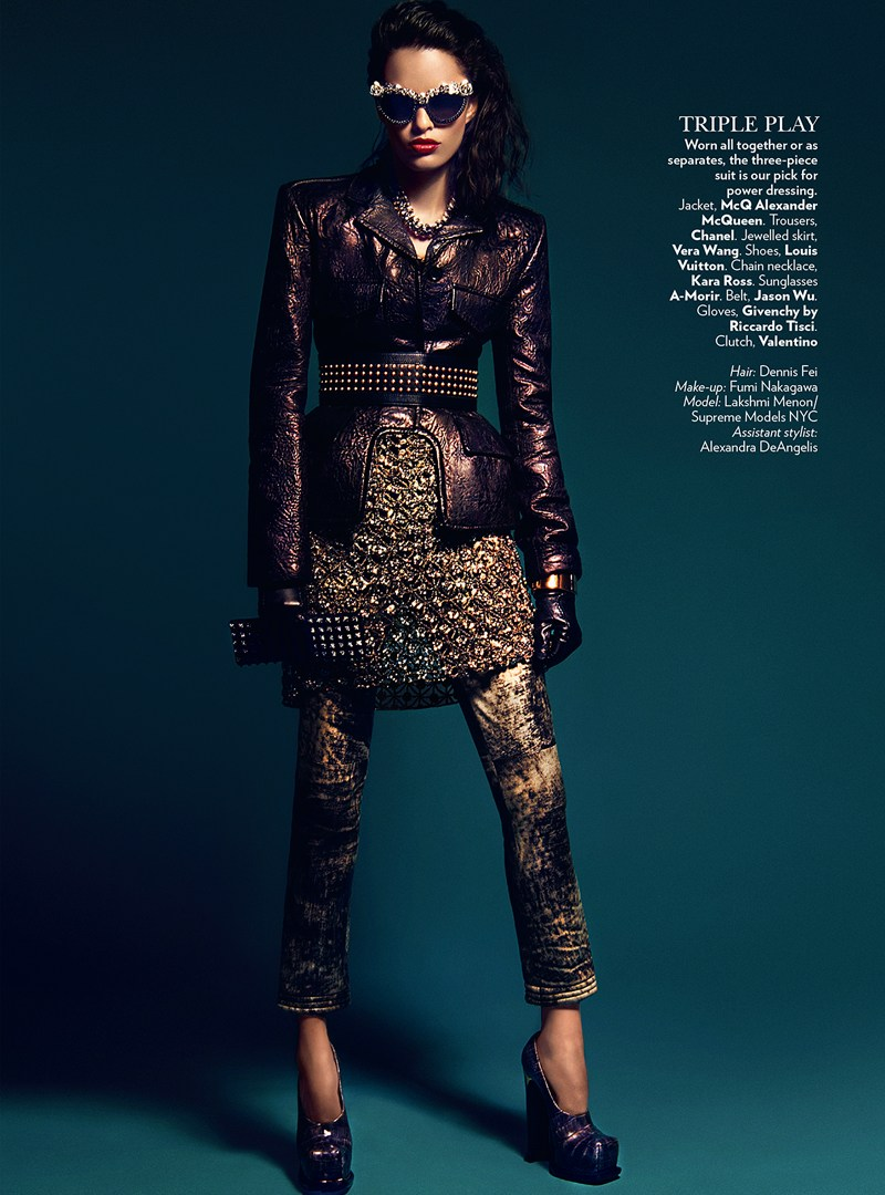 VogueIndia8 Lakshmi Menon Dons Statement Pieces for Vogue Indias February 2013 Issue by Kevin Sinclair
