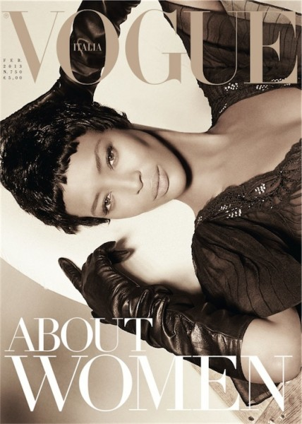 Naomi Campbell Graces Vogue Italia February 2013 Cover
