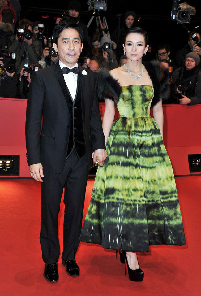 Zhang1 Zhang Ziyi in Dior Haute Couture at The Grandmaster Berlin Premiere