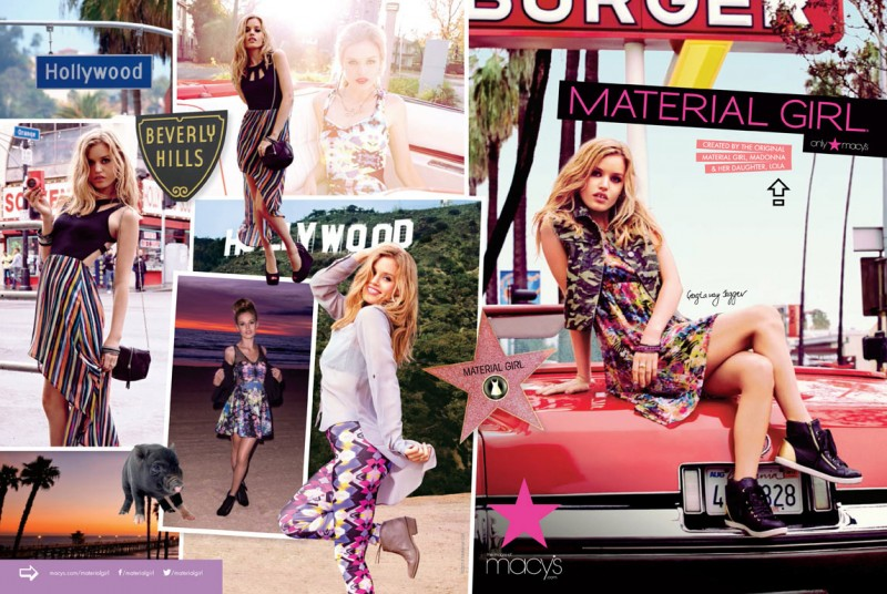 ad01 1 800x536 Georgia May Jagger Heads to Hollywood for Material Girl Spring 2013 Campaign