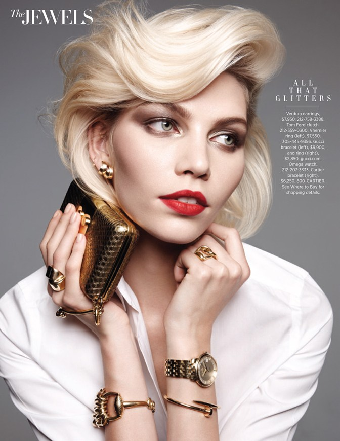 Aline Weber Aline Weber Shines for Amy Troost in Harper39s Bazaar US