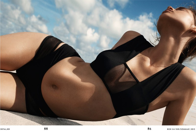 anais pouliot benny horne bon4 Anais Pouliot is a Beach Babe for Bon Spring/Summer 2013 by Benny Horne