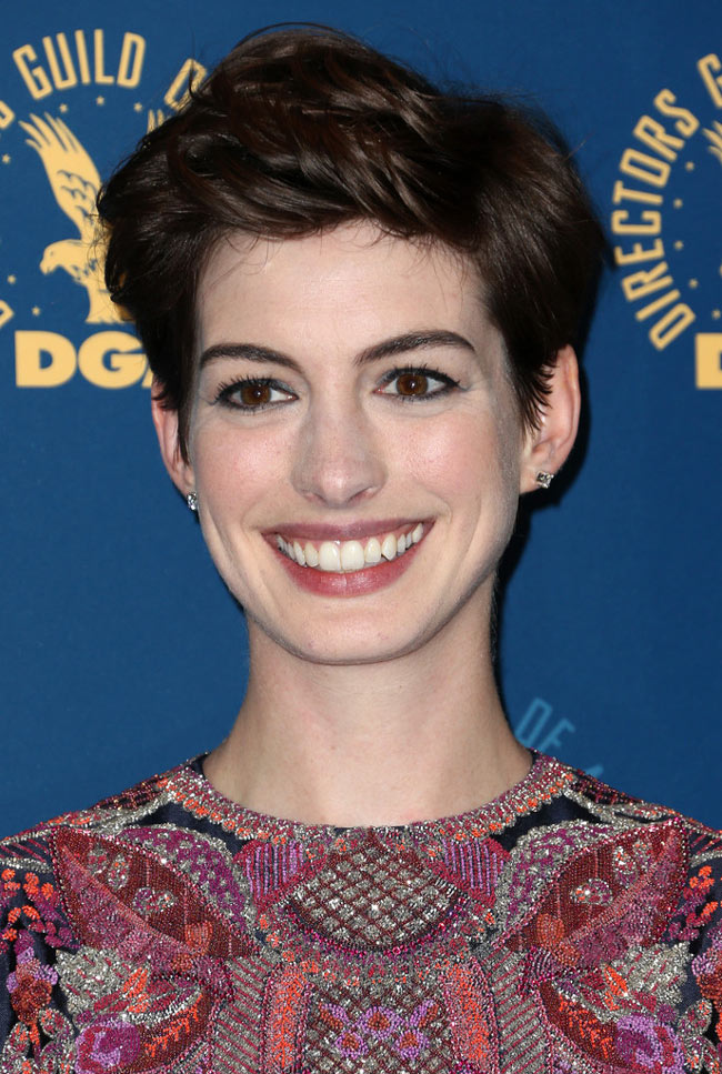 anne valentino2 Anne Hathaway in Valentino Haute Couture at the 65th Annual DGA Awards