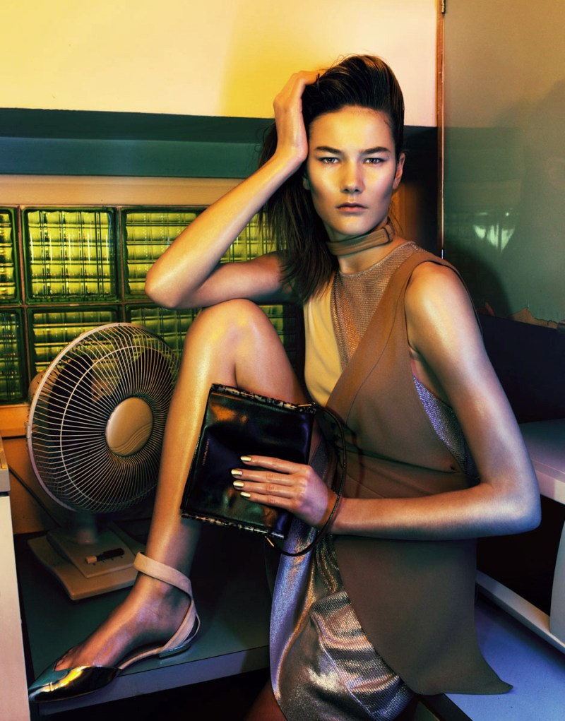 armani nikolay wonderland5 Weronika Dus Shines in Emporio Armani for Wonderland February/March 2013 by Nikolay Biryukov