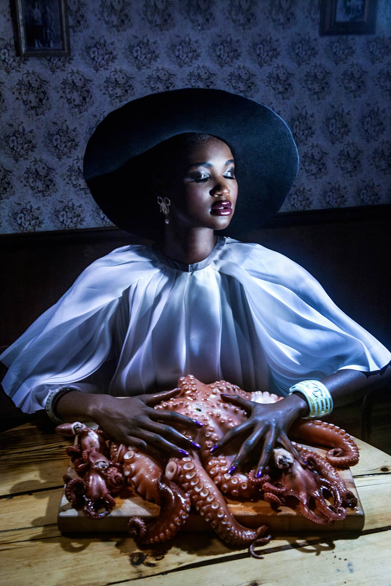 Ataui Deng Does the Darwin Diet for I Love You Magazine by Elle Muliarchyk