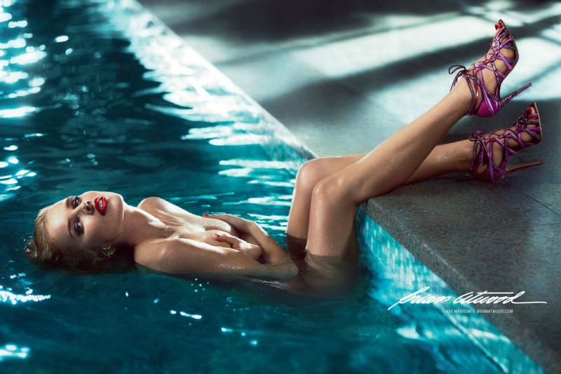 brian atwood 01 800x534 Eva Herzigova Gets Naked for Brian Atwood Spring 2013 Campaign by Mert & Marcus
