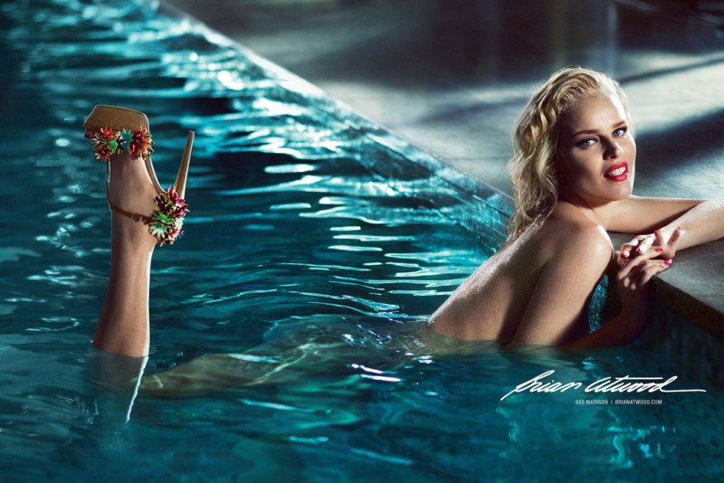 brian atwood 02 800x534 Eva Herzigova Gets Naked for Brian Atwood Spring 2013 Campaign by Mert & Marcus