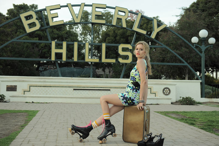 bts01 Georgia May Jagger Heads to Hollywood for Material Girl Spring 2013 Campaign