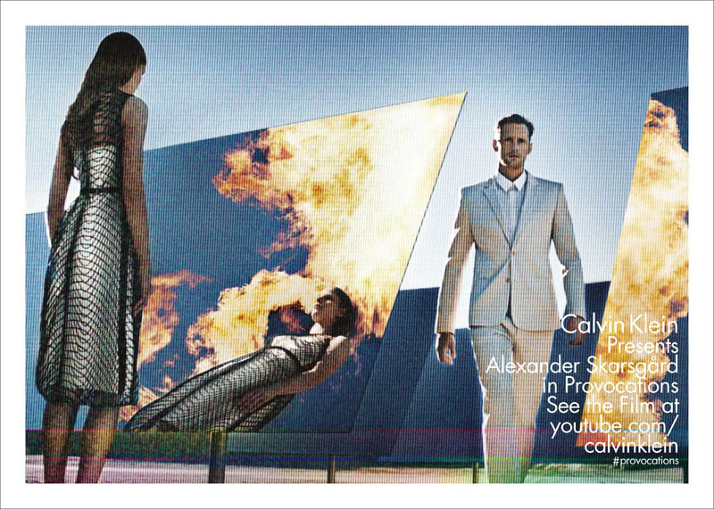 calvin klein collection s13 m+w ph baronfabien sp02 Suvi Koponen and Alexander Skarsgard Front Calvin Kleins Spring 2013 Campaign