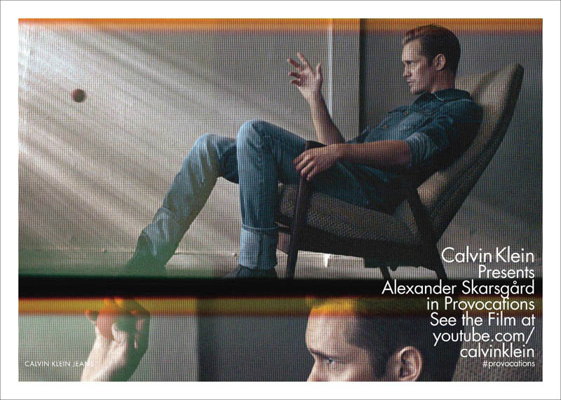 calvin klein jeans s13 m ph baronfabien sp01 Suvi Koponen and Alexander Skarsgard Front Calvin Kleins Spring 2013 Campaign
