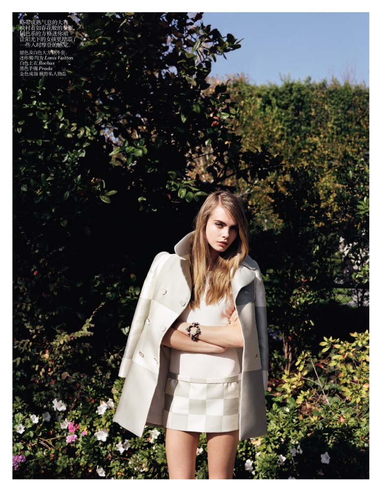 cara vogue micro3 Cara Delevingne Sports Micro Style for Vogue China February 2013 by Angelo Pennetta