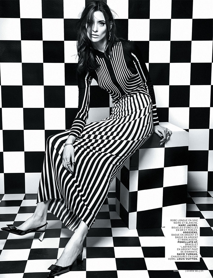 carolina thaler lofficiel10 Carolina Thaler Sports Contrasting Style for LOfficiel Paris March 2013 by Thanassis Krikis