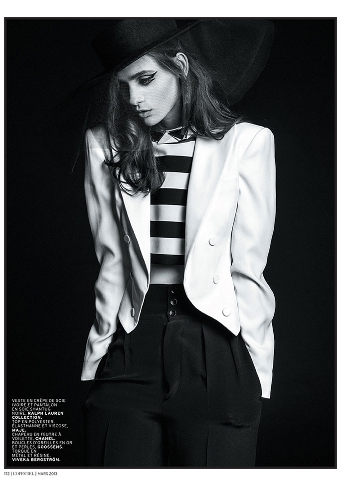 carolina thaler lofficiel11 Carolina Thaler Sports Contrasting Style for LOfficiel Paris March 2013 by Thanassis Krikis