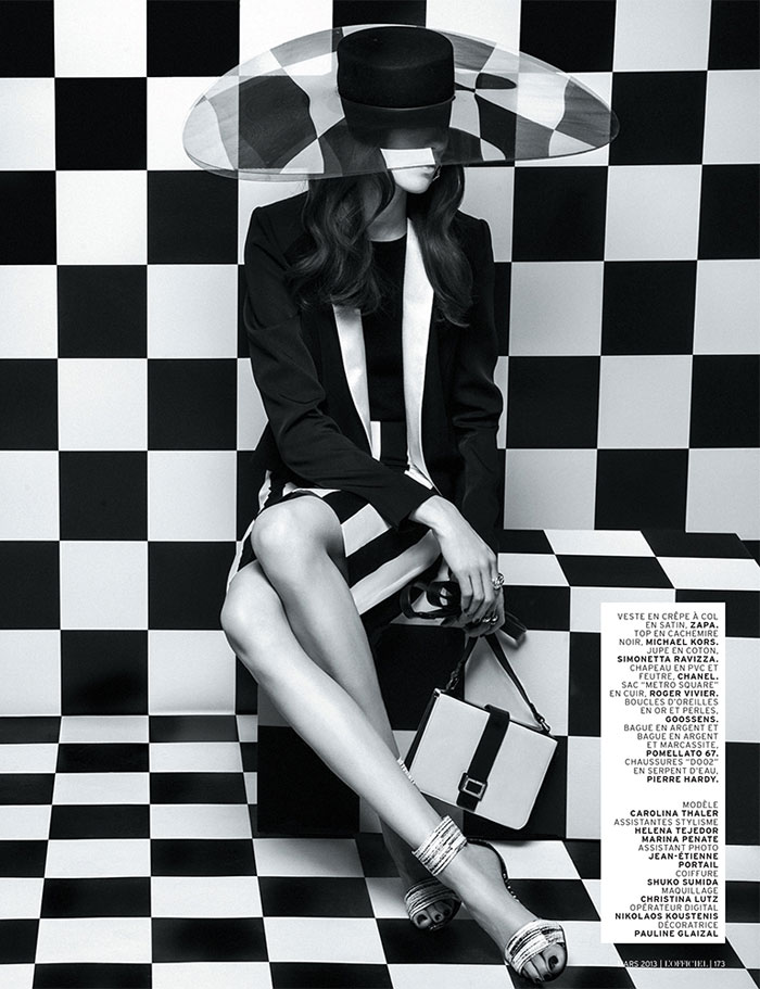 carolina thaler lofficiel12 Carolina Thaler Sports Contrasting Style for LOfficiel Paris March 2013 by Thanassis Krikis
