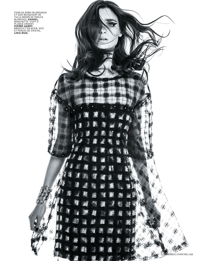 carolina thaler lofficiel2 Carolina Thaler Sports Contrasting Style for LOfficiel Paris March 2013 by Thanassis Krikis