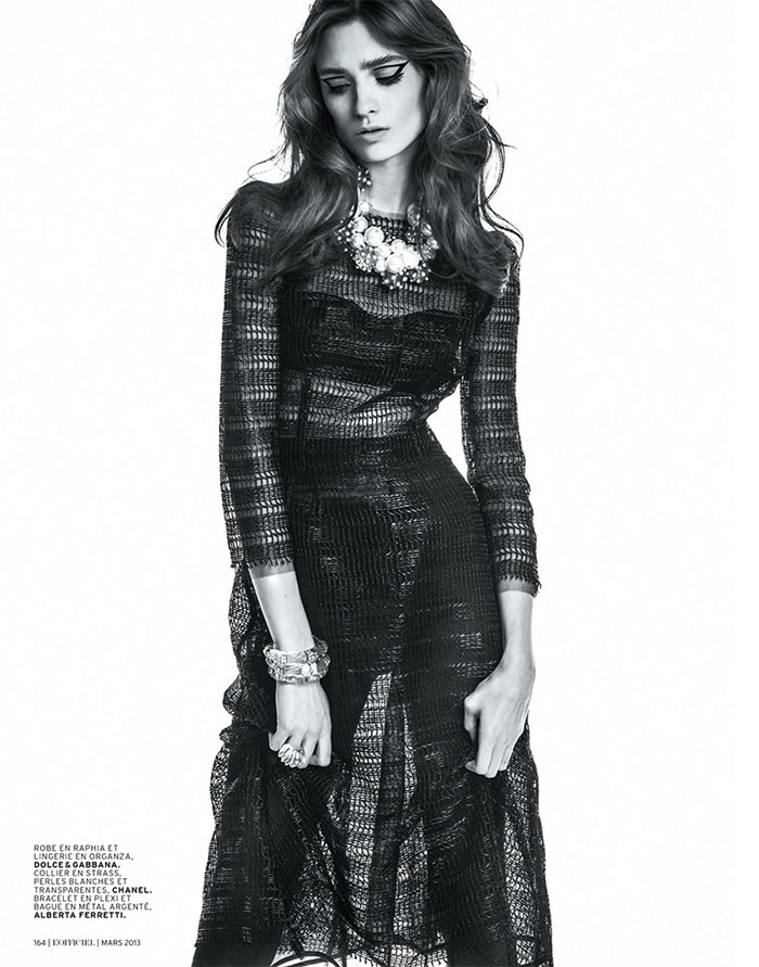 carolina thaler lofficiel3 Carolina Thaler Sports Contrasting Style for LOfficiel Paris March 2013 by Thanassis Krikis