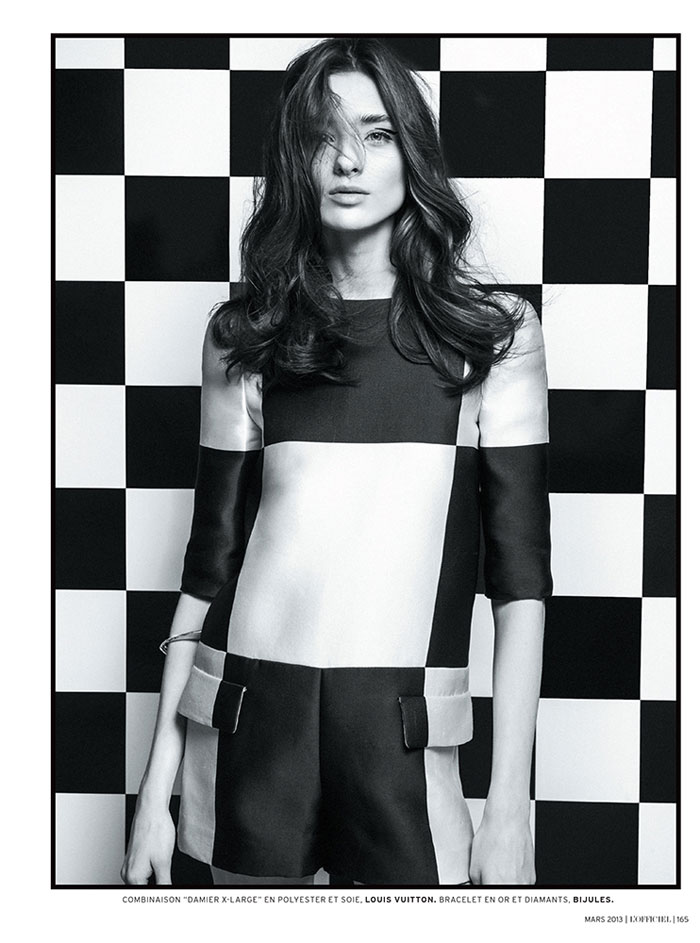 carolina thaler lofficiel4 Carolina Thaler Sports Contrasting Style for LOfficiel Paris March 2013 by Thanassis Krikis