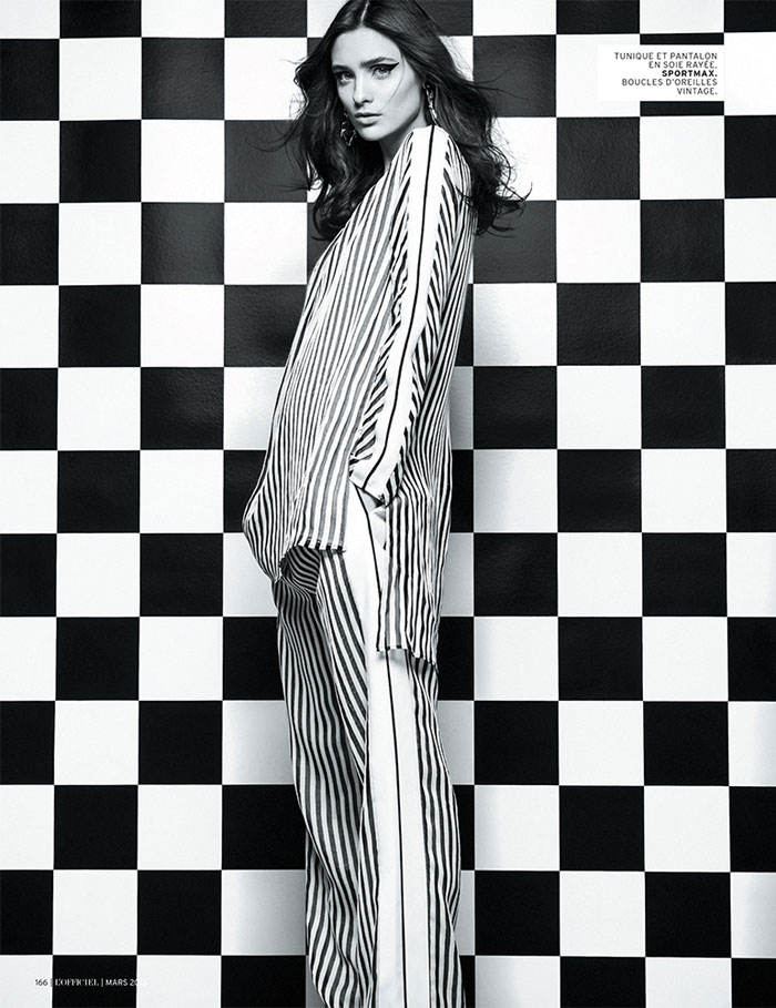 carolina thaler lofficiel5 Carolina Thaler Sports Contrasting Style for LOfficiel Paris March 2013 by Thanassis Krikis