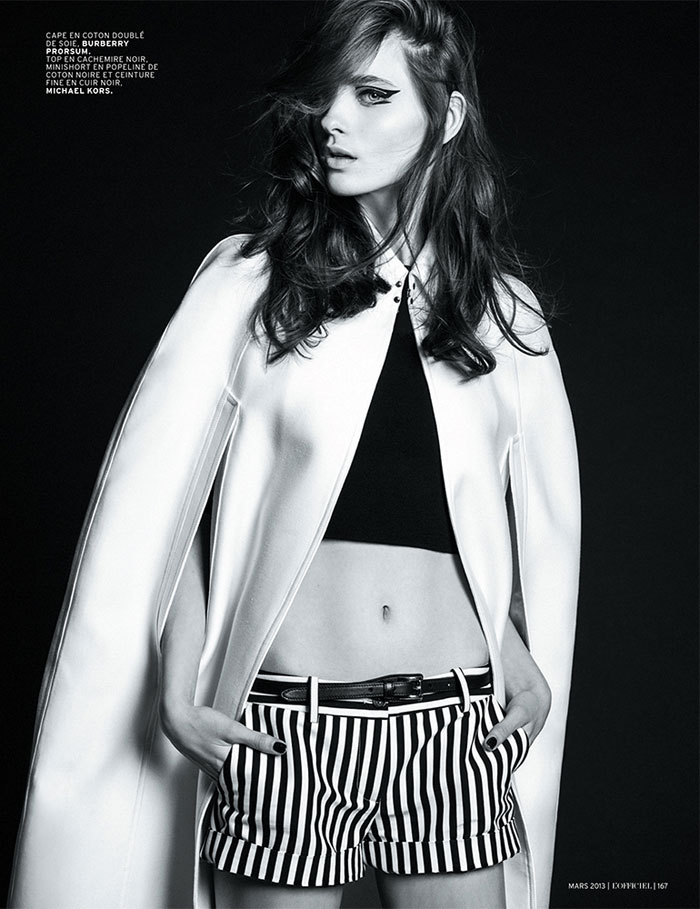 carolina thaler lofficiel6 Carolina Thaler Sports Contrasting Style for LOfficiel Paris March 2013 by Thanassis Krikis
