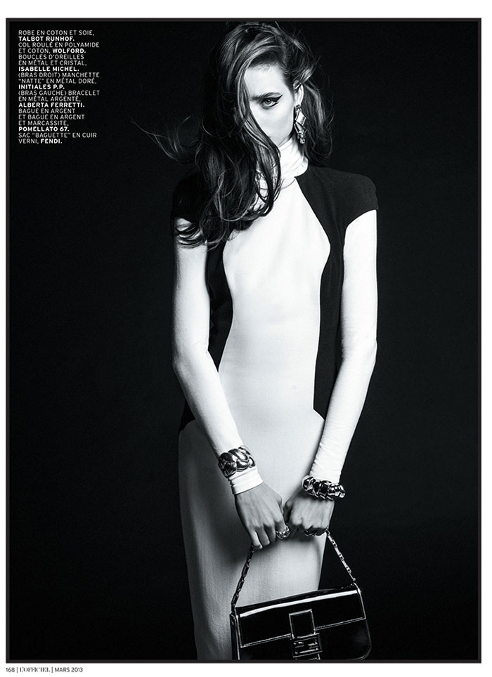 carolina thaler lofficiel7 Carolina Thaler Sports Contrasting Style for LOfficiel Paris March 2013 by Thanassis Krikis