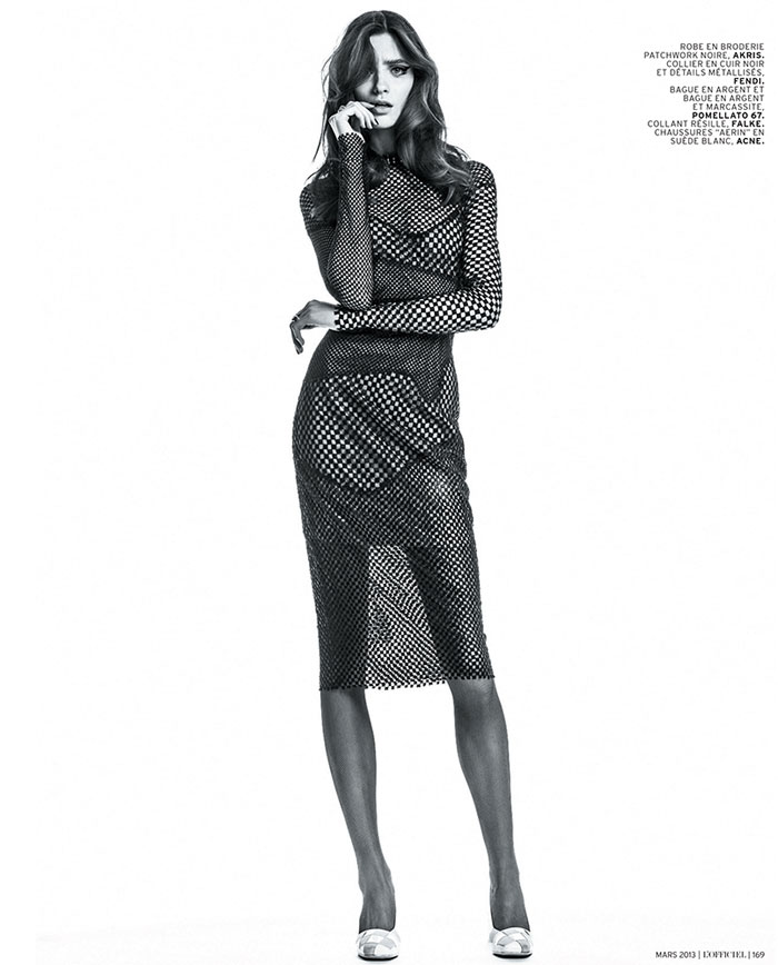 carolina thaler lofficiel8 Carolina Thaler Sports Contrasting Style for LOfficiel Paris March 2013 by Thanassis Krikis