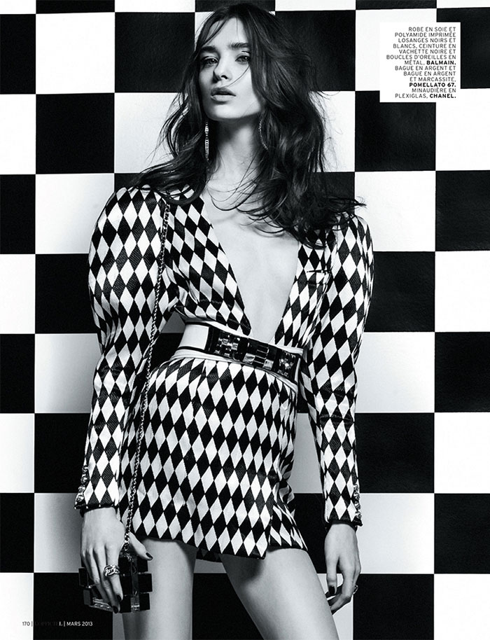 carolina thaler lofficiel9 Carolina Thaler Sports Contrasting Style for LOfficiel Paris March 2013 by Thanassis Krikis