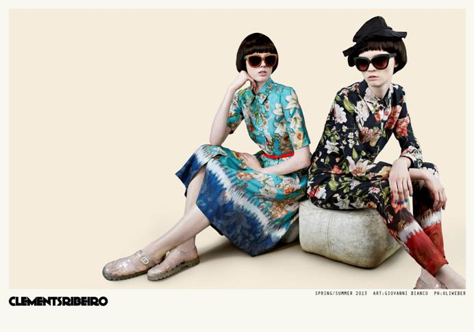 clements ribeiro spring campaign1 Clements Ribeiro Launches Spring 2013 Campaign by Uli Weber