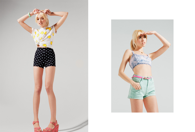 cora shorts3 Cora Keegan Sports New Short Styles for Urban Outfitters, Shot by Colin Leaman