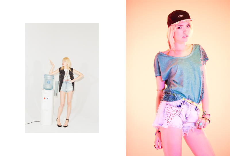 Cora Keegan Sports New Short Styles for Urban Outfitters