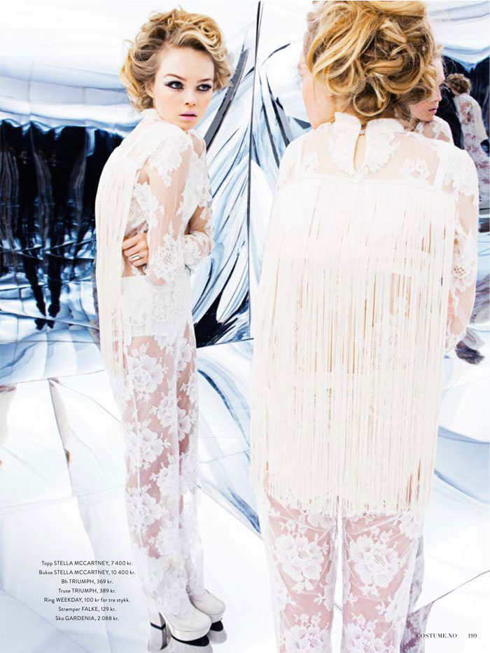 Siri Tollerod is a Factory Girl for Costume Norway March 2013