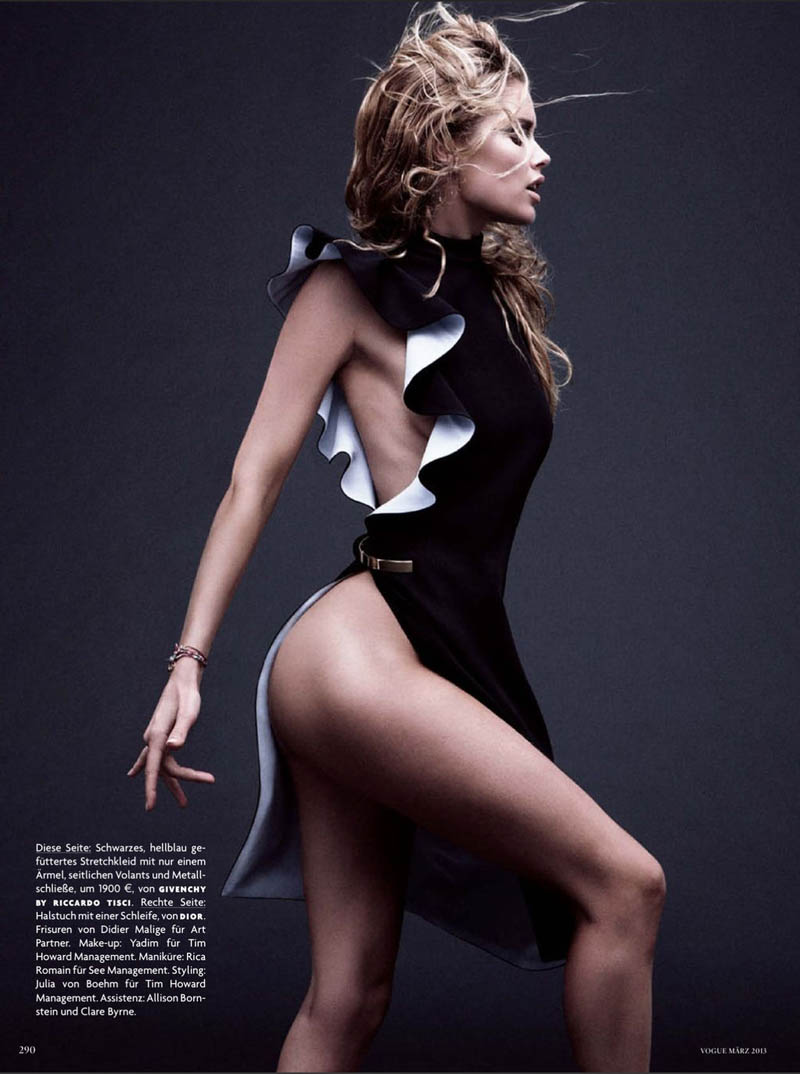 doutzen kroes vogue shoot9 Doutzen Kroes Stuns in Vogue Germanys March Issue by Daniel Jackson