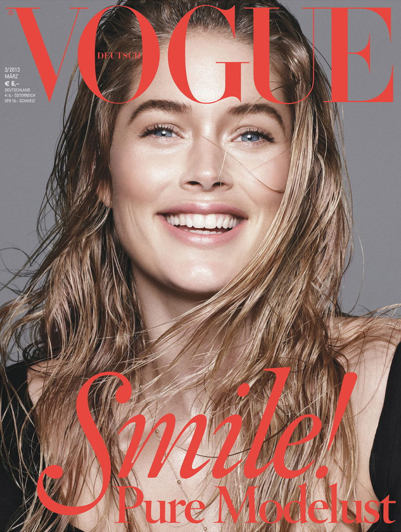 doutzen kroes vogue maerz c 03 2013 Doutzen Kroes, Saskia de Brauw and Kati Nescher Are All Smiles for Vogue Germanys March 2013 Covers