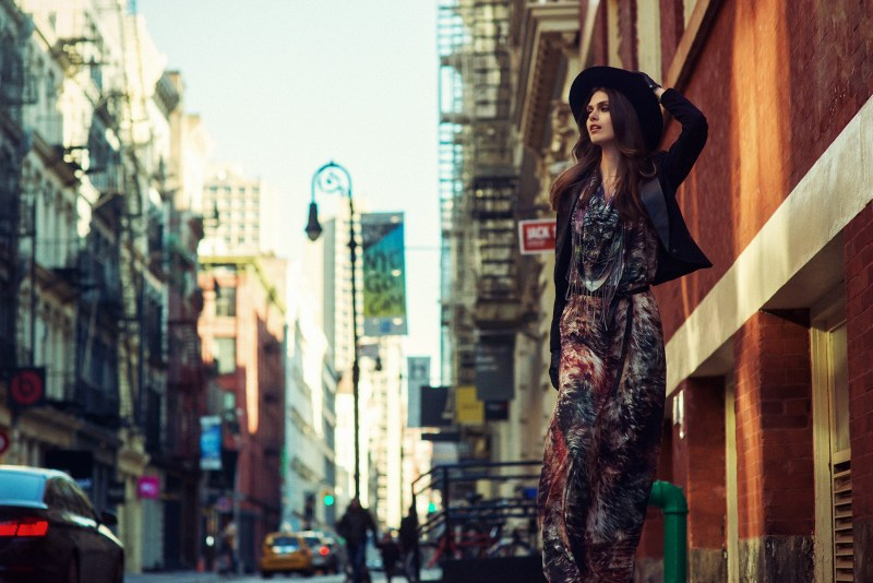 Maria Palm Hits the Streets for DTA Jeans' Fall 2013 Campaign by Gustavo Marx