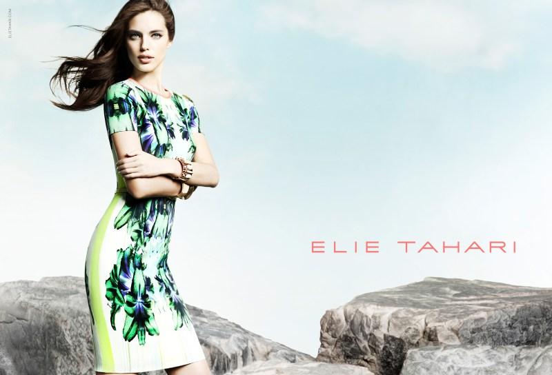 elie tahari spring campaign1 Emily DiDonato Fronts Elie Taharis Spring 2013 Campaign by Diego Uchitel