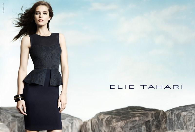 elie tahari spring campaign3 Emily DiDonato Fronts Elie Taharis Spring 2013 Campaign by Diego Uchitel