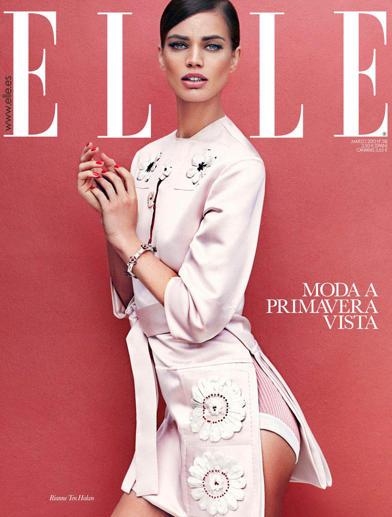 elle spain march11 Rianne ten Haken Sports Elegant Style for Elle Spains March Issue by Xavi Gordo