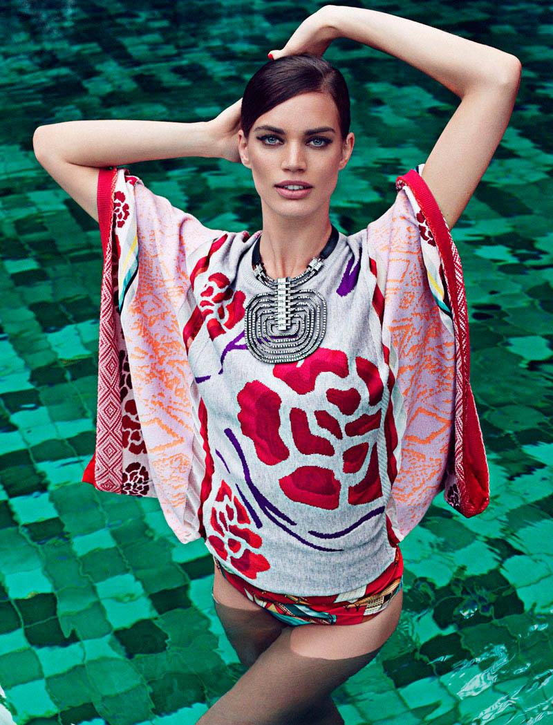 Rianne ten Haken Sports Elegant Style for Elle Spain's March Issue by Xavi Gordo