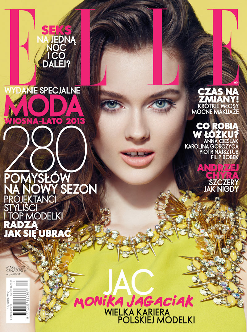 ellecover kozdrabaczulis Jac Jagaciak Wears Gucci on Elle Polands March 2013 Cover
