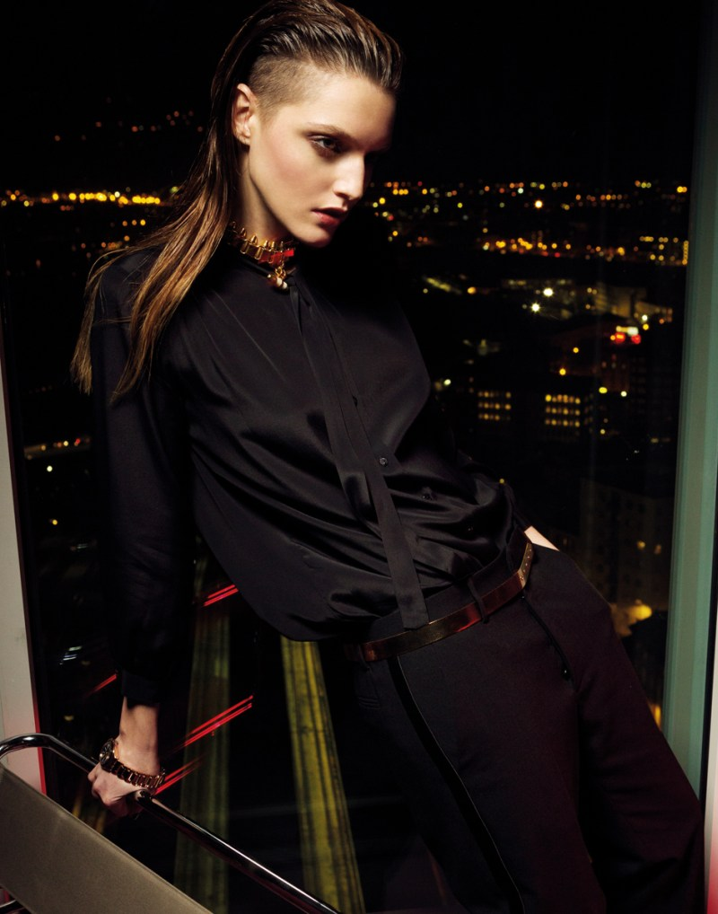 gianluca fontana notturno11 Helena Babic is Tuxedo Chic for Io Donna by Gianluca Fontana