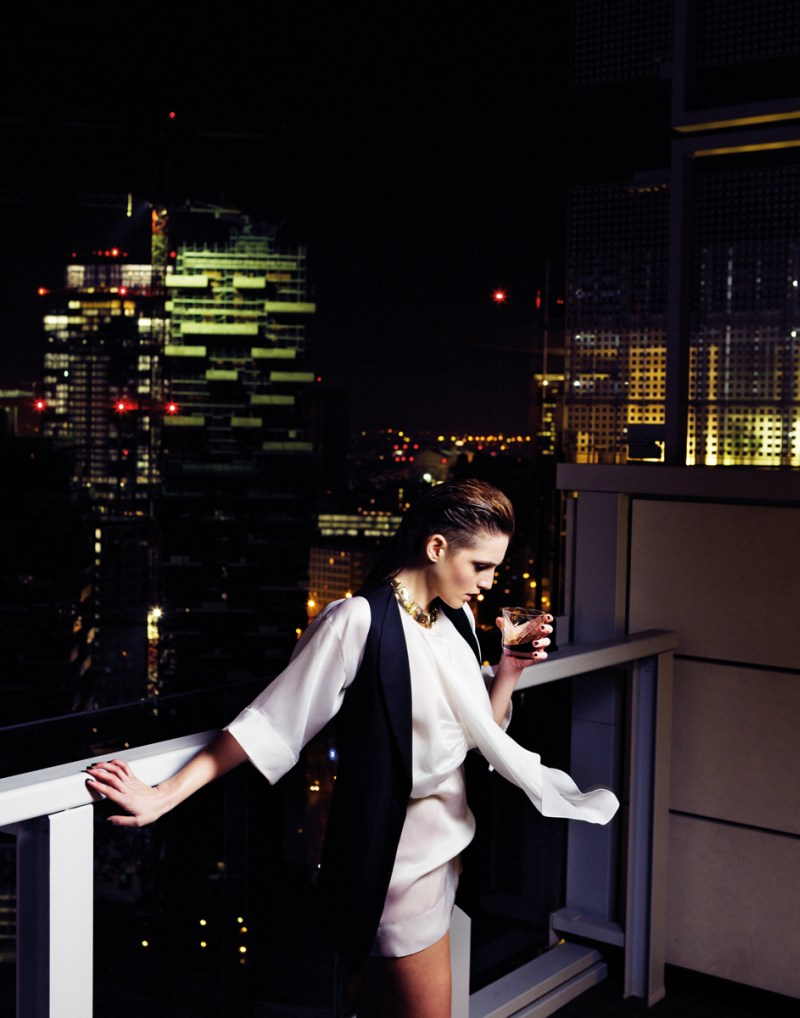 gianluca fontana notturno3 Helena Babic is Tuxedo Chic for Io Donna by Gianluca Fontana