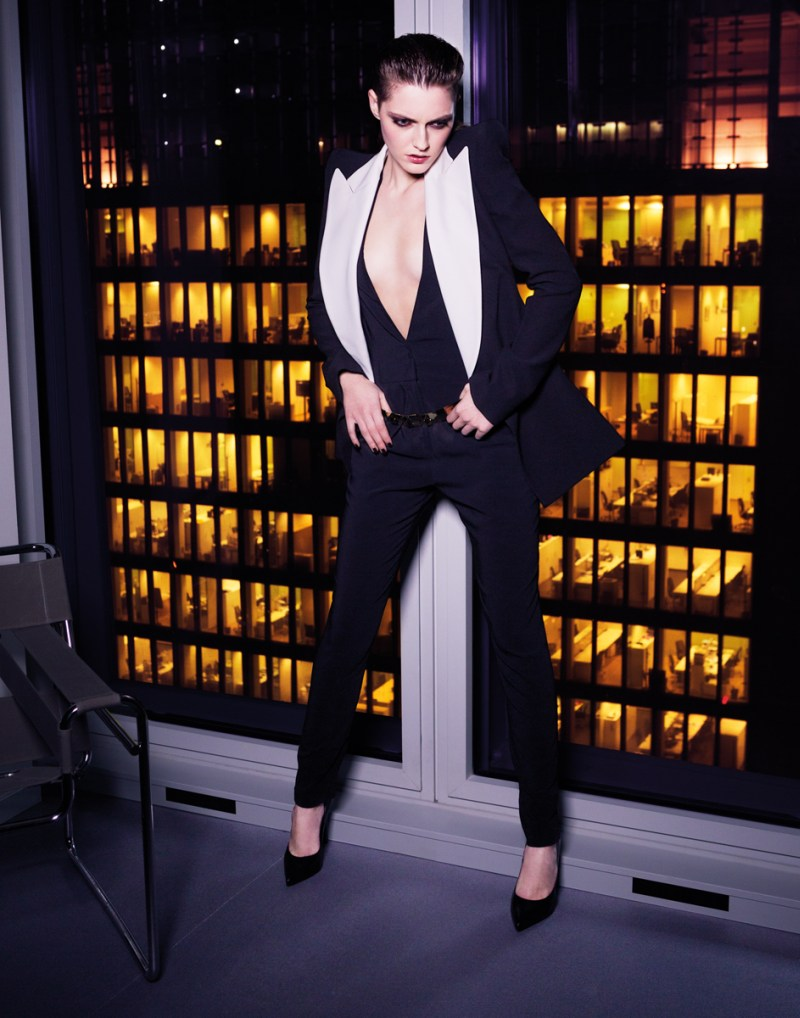 gianluca fontana notturno5 Helena Babic is Tuxedo Chic for Io Donna by Gianluca Fontana