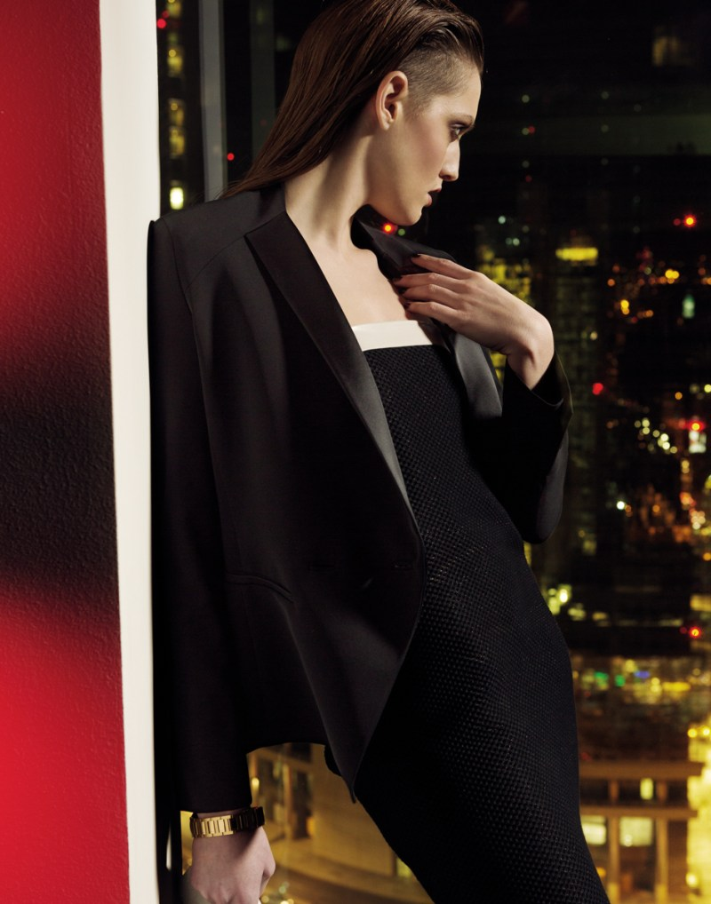gianluca fontana notturno7 Helena Babic is Tuxedo Chic for Io Donna by Gianluca Fontana
