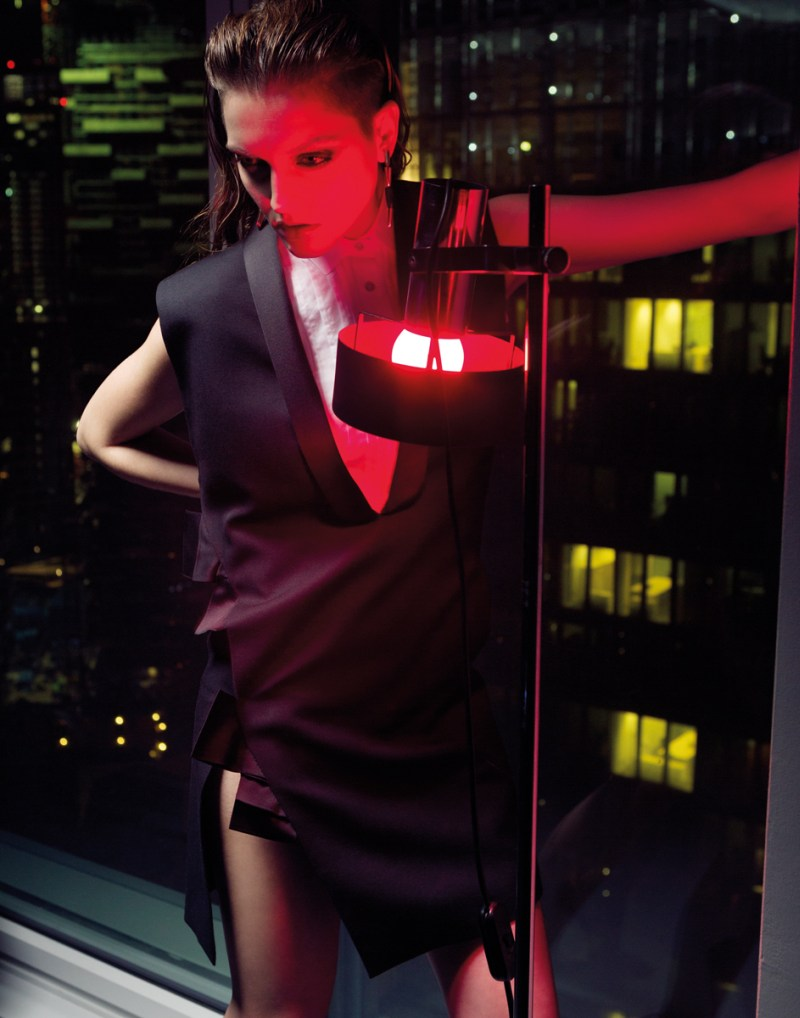 gianluca fontana notturno8 Helena Babic is Tuxedo Chic for Io Donna by Gianluca Fontana
