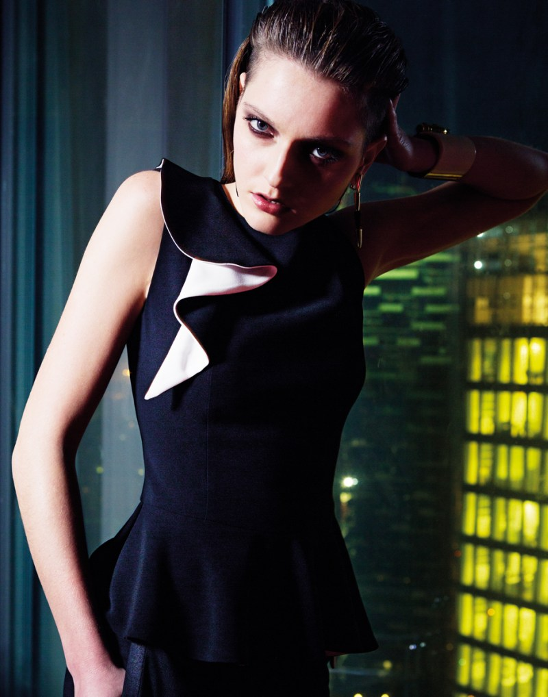 gianluca fontana notturno9 Helena Babic is Tuxedo Chic for Io Donna by Gianluca Fontana