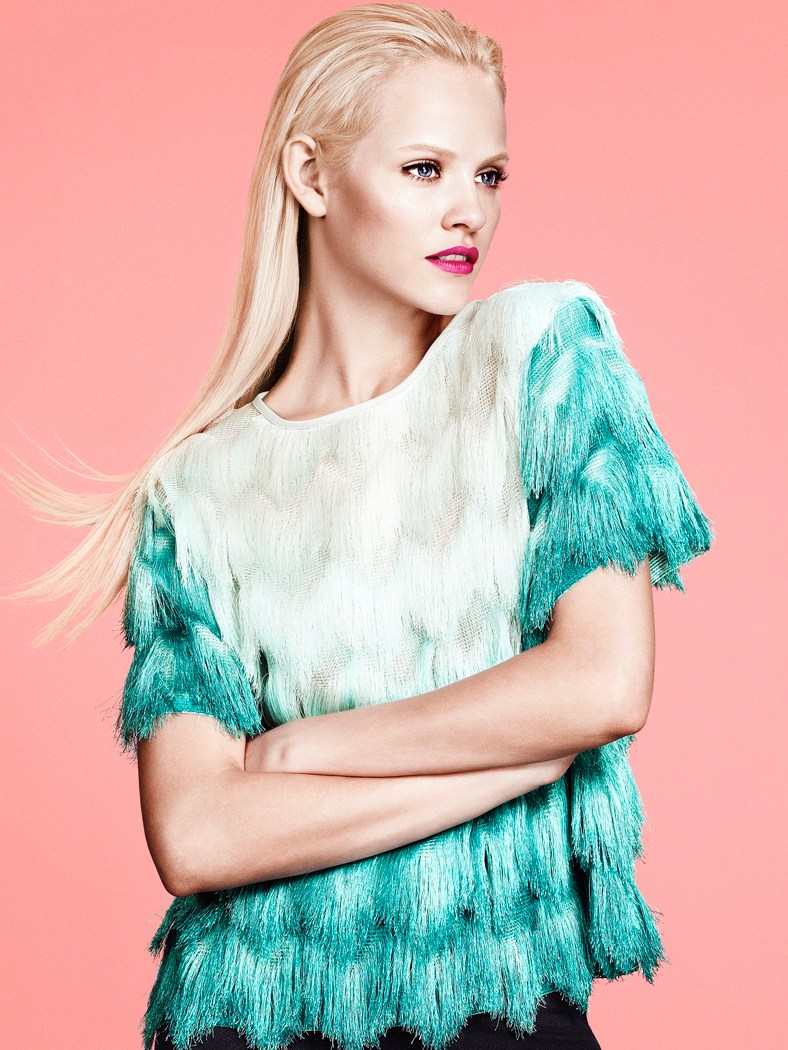 ginta hm style1 Ginta Lapina Models H&Ms Modern Retro Looks for Spring