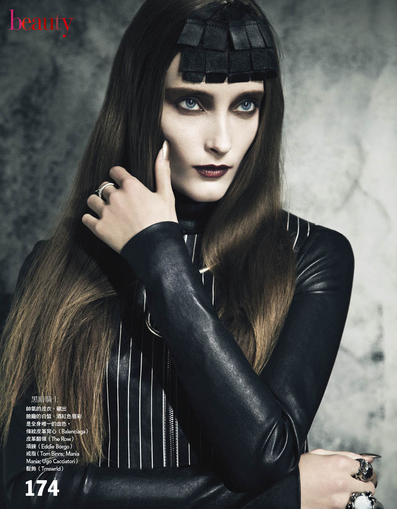 gothic vogue taiwan2 Iekeliene Stange is a Gothic Beauty for Vogue Taiwan February 2013 by Yossi Michaeli